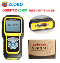 OBDSTAR X300M 2017 100% OBDSTAR X300M Professional for Odometer correction via OBDII X300 M free update online Free ship X300 M(China)