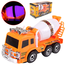 SSXZ Electric Cement Mixers Truck Musical And Flashing Baby Funny Toys Kids Gifts Brinquedos Electronic Toys For Children(China)