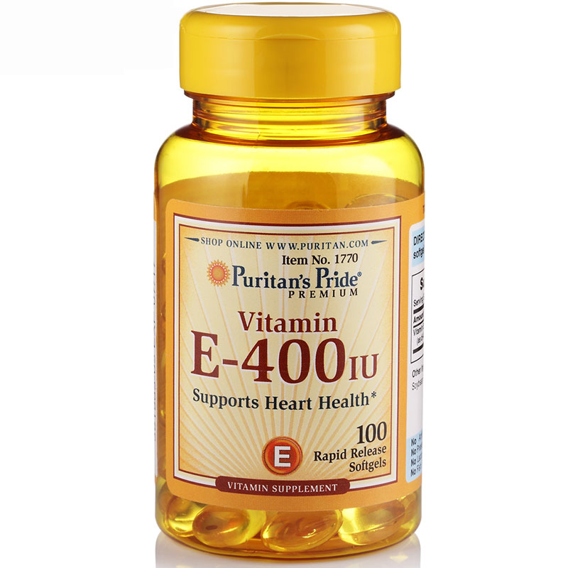 Free shipping  Vitamin E-400 IU Supports Heart Health 100 Rapid Release Softgels<br>