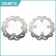 Stainless Steel High Quality Full Set Front Rear Brake Discs Rotors for KX F 125 250 03 04 05 2003 2004 2005