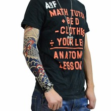 Cool Simulation Tattoo Sleeve Arm Sunscreen Arm Warmers Long Cuff Arm Sleeves Riding Tattoo Sticker
