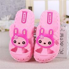 YNB Children Baby Close Tole Sandals for Girls Flip Flops Kids PVC Rabbit Sandals Girls Boys Pink Red Blue Summer Shoes Slies