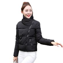 Ukraine Rushed New Women Eiderdown Cotton Coat 2017 Autumn Korean Style Cotton-padded Winter Jacket Slim Female Clothes A0124(China)