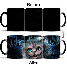 Cheshire Cat Mug Discoloration Comic Movies Periphery Lovely Heat Transfer Originality Color Change Coffee Copo Beer Ceramic(China)