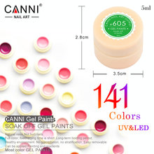 #50618 Professional Nails Gel CANNI Nails Art UV LED Gel Neon Paint Colors Nail Colour Gel(China)