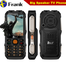 100% Original DBEIF D2016 Dual flashligh Shockproof Mobile Phone Analog TV Function 2.8 inch Screen Dual SIM Dual Torch Phone(China)