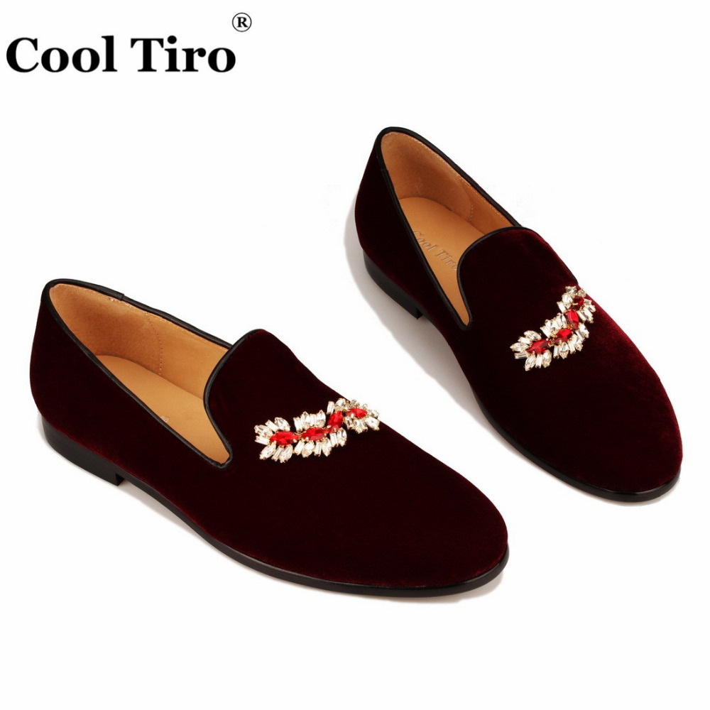 VELOUR BURGUNDY SLIPPERS Loafers (4)