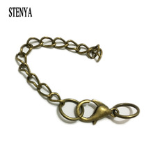 Stenya Lobster Clasp Extended Extension Chains Jump Rings Charms Pendant Necklace Diy Connector Bails Simple Design Creative(China)