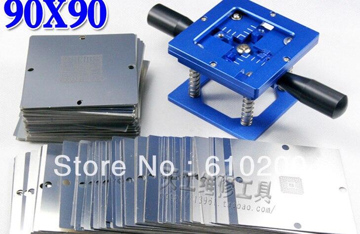 2014 New 90*90mm BGA Reballing Station 90x90mm(support ps3 stencil) + 241 pcs  BGA stencils templates<br><br>Aliexpress