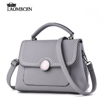 New Fashion Buttons Handbag PU Leather Ladies Small Dotor Bag Women Messenger Bag Mini Designer Tote Crossbody Bolsas Femininas