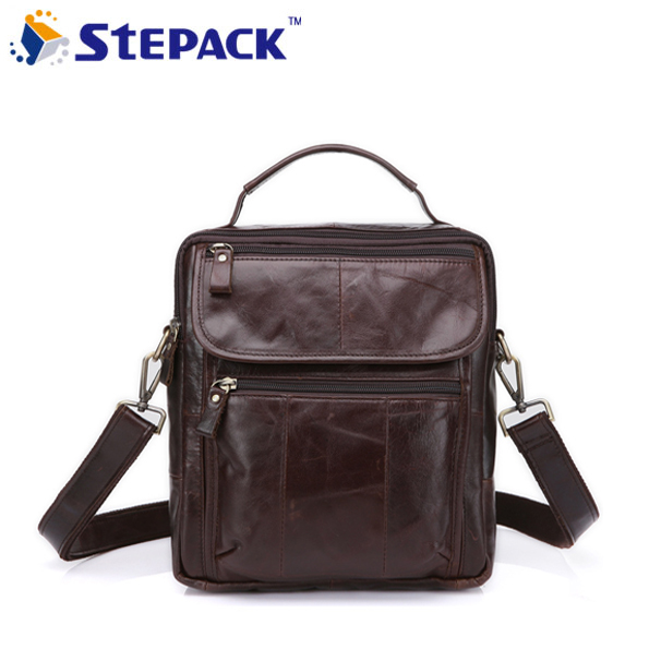 2017 New Brand Vertical Section Hasp 3 colors Open Retro Shoulder Bag Men Messenger Bag AntiqueGenine Cow Leather Bags Business<br>