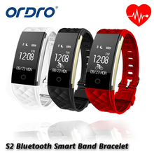 S2 Bluetooth Smart Band Bracelet Waterproof Touch Screen Wristband Heart Rate Monitor Smartband Bracelet For Android IOS Phone