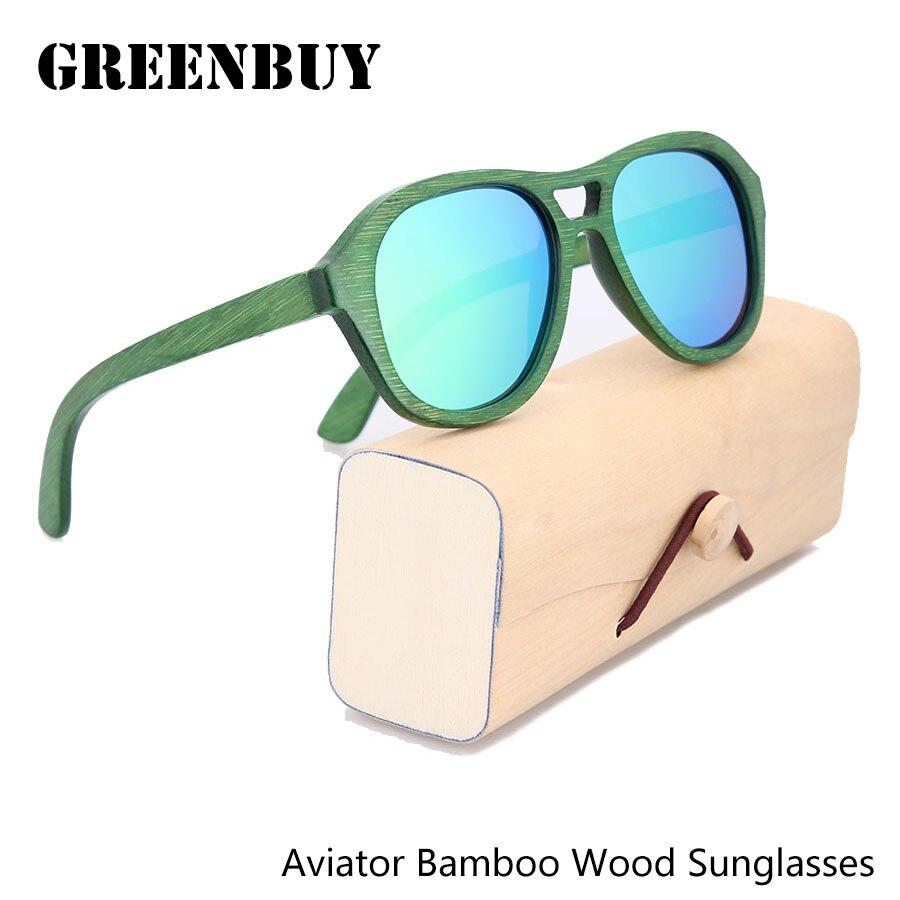 Green Mirror Polarized Bamboo Sunglasses Italian fashion Design Polaroid Aviator Sunglasses Men Polarized UV Lens with Your Logo<br><br>Aliexpress