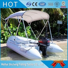 PVC/CE/OEM Inflatable Boat With Sunshade for two person(China)