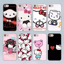 lovely Hello Kitty design transparent clear hard case cover for Apple iPhone 7 7Plus 6S 6 Plus 5 5s SE 5C