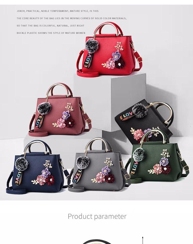 ETALOO Flowers Shell Ladies Handbags | Tote Leather Bag 3
