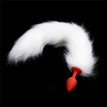 BDSM Erotic Toys Dog Tail Silicone Anal Plug For Men Woman Adult Games Slave Butt Plug Fox Cosplay Tail Sex Products For Gay(China)