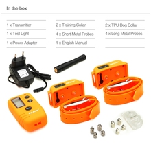Dog electronic shock rechargeable waterproof dog training collar 500M remote bark control stop barking(China)
