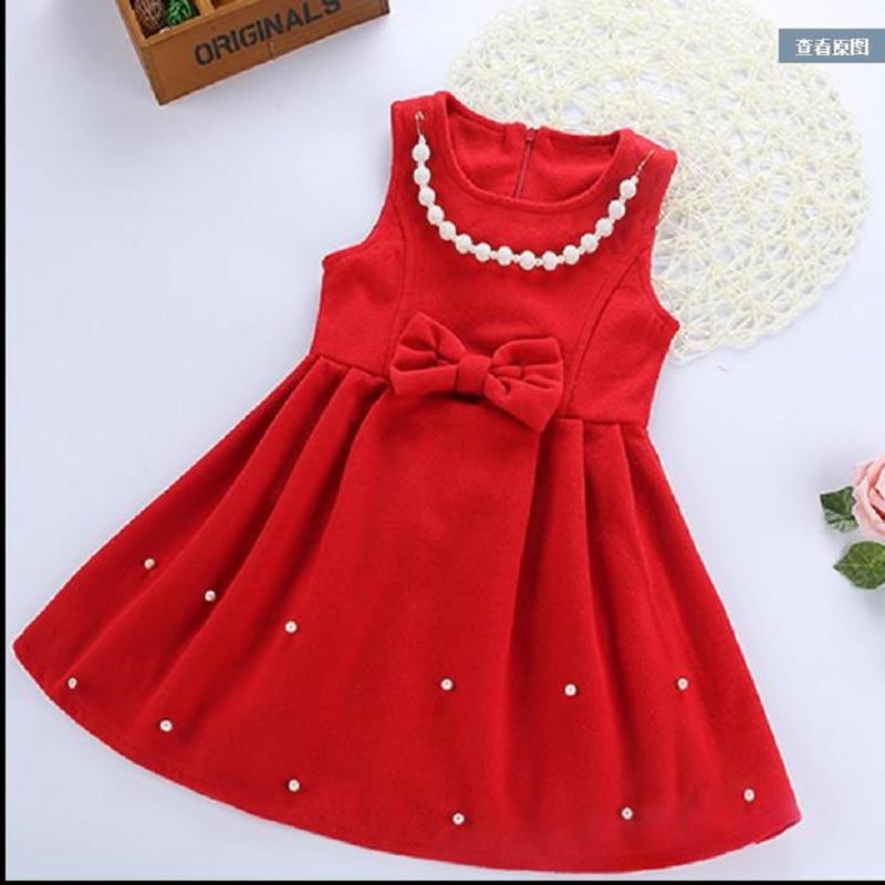 NICBUY Girls autumn winter sweater vest dress, red dress dress <br>