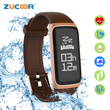 ZUCOOR Smart Bracelet Blood Pressure Heart Rate Monitor CB02 Fitness Wristband Pulse Men Band Smartband Activity Tracker Pulsera(China)