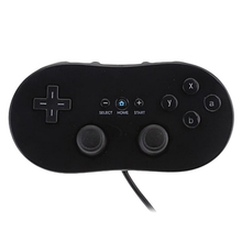 ViGRAND Free shipping 1pcs Black White Wired Classic Controller Gamepad VIDEO GAME Controller for Wii and Gamecube(China)