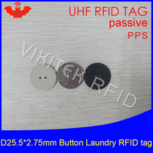 UHF RFID tag laundry PPS button Washable heat resisting 915m 868m 860-960M Alien Higgs3 EPC Gen2 6C smart card passive RFID tags