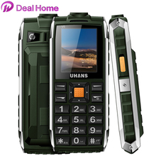 Original Uhans V5 Dustproof Shockproof Dual Sim Card 2500Mah Battery GSM Big Speaker n Flashlight Outdoor Phone