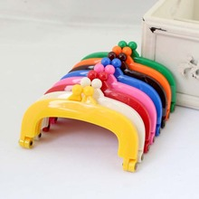 20pcs High Quality 10.5CM Candy color plastic Purse Frame handle for partchwork bag ,Mixed color wholesale ,Freeshipping