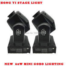 2 Pcs Mini Spot 60W LED Moving Head Light With Gobos High Brightness DMX512 DMX 9/11 Channels Professional Led Stage Light