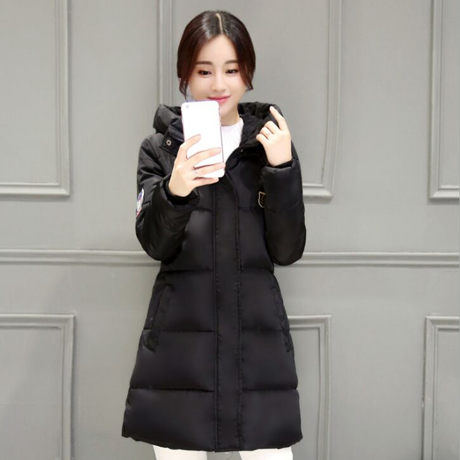 winter jacket women long new winter black Slim Female Coat Thicken Parka women Winter Jacket fashion 2017Одежда и ак�е��уары<br><br><br>Aliexpress