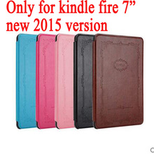 "PU Leather Case Cover for Amazon Kindle Fire 7"" inch (2015 Edition) tablet cover for kindle 7(new 2015 version) + gift"