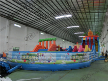 funny parcours zoo children inflatable obstacle course big jumper playground(China)