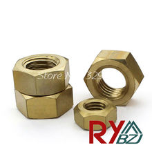 Brass nut M2 M3 M4 M5 M6 M8 M10 M12 M14 M16 M18 M20 Brass hex nut Metric Thread(China)