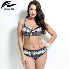Sexy Plus Size Bikinis 2017 Women Swimwear Swimsuit Brazilian Push Up Bikini Set Large Cup Biquini Bathing Suits Bikini Women