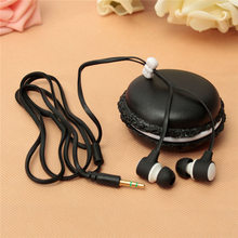 6 Color Cute Portable 3.5mm Universal Earphone Headset Headphone Macaron Storage Case For iPhone For Sumsung Tablet PC