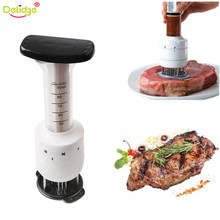 Delidge 1 pc Multi-function Meat Tenderizer Needle and Meat Injector Marinade Flavor Syringe Stainless Steel+Plasti Kitchenware(China)