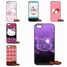 For iPhone 4 4S 5 5C SE 6 6S 7 Plus Galaxy J5 A5 A3 S5 S7 S6 Edge Popular Elegant Painting Hello Kitty Coque Case