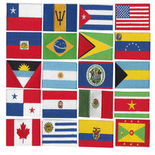 More than 200 countries patch / 10 PCS batch embroidery flag, good quality low prices can accept customization