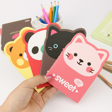 2PCS Kawaii Cartoon Creative Stationery Office Supplies School Notebook Diary Panda Bear Notepad Color Random