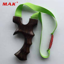 1pc Hot Sell Wood Slingshot High 12.6cm with 3 Powerful Rubber Bands for Hunting Shooting Accessories Archery Catapult(China)