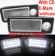 Canbus Error free 18SMD LED License plate light number plate lamp for Audi A6 C5 4B Avant/Wagon 1998-2005 RS6 Plus 2003-2005(China)
