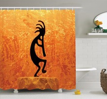 High Quality Arts Shower Curtains Kokopelli Southwestern Style Native American Indian Ancient Bathroom Decorative Modern Shower(China)