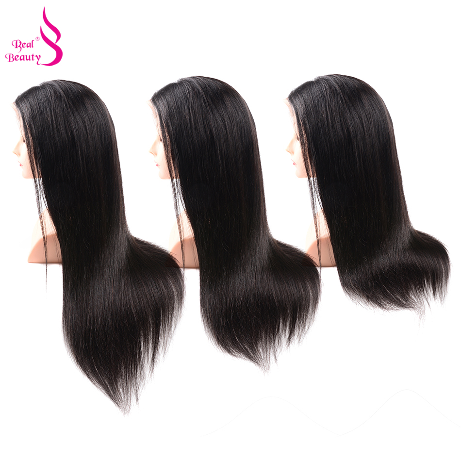Straight Lace Front Wig Pre Plucked With Baby Hair 180% Density Lace Front Human Hair Wigs Honey Remy Real Beauty Hair (16)