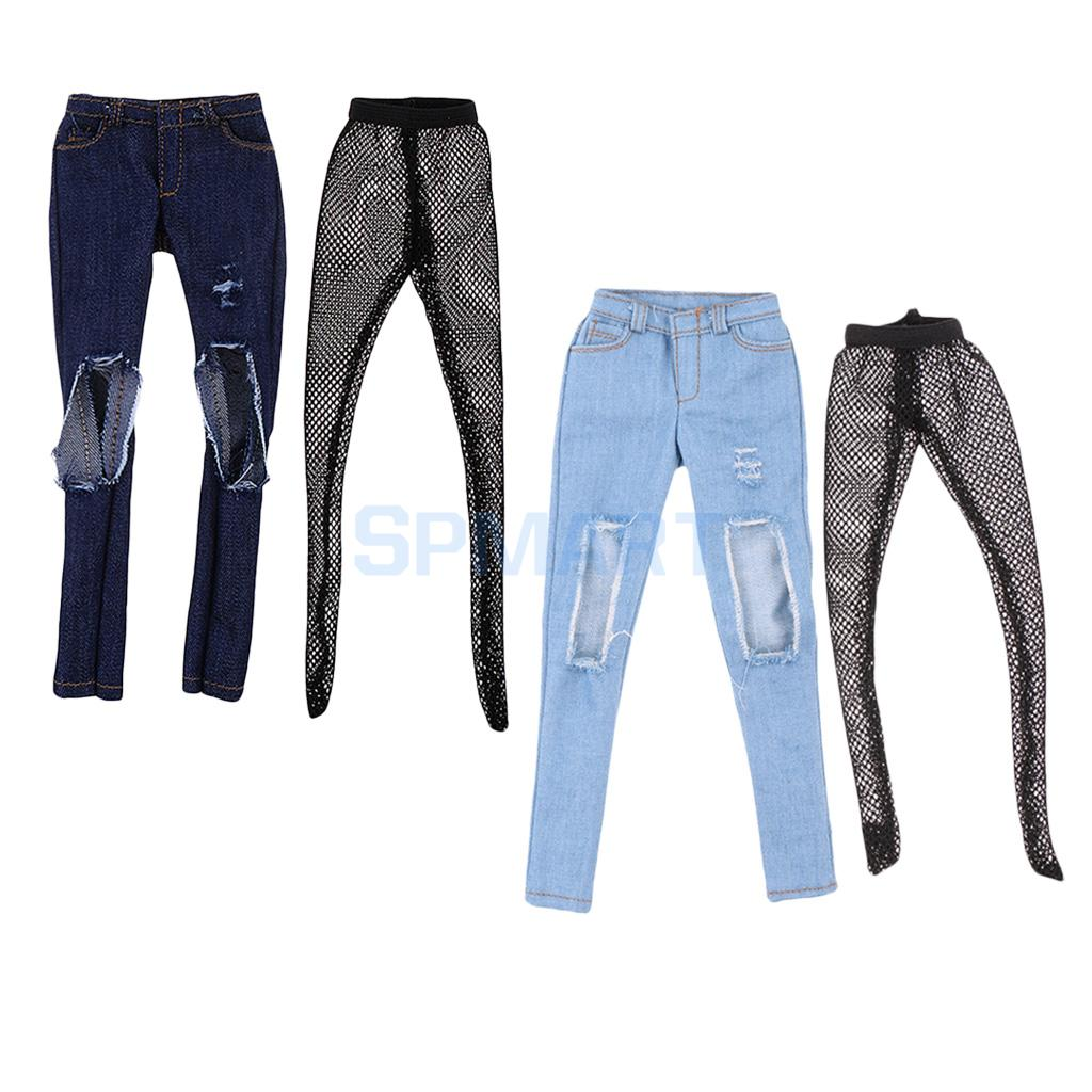 "1//6 Jacket Jeans Shoes Set For 12/"" PHICEN Hot Toys Custom Female Figure U.S.A."