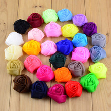 1.6 inch Soild muslin Fabric Rose Bud WITHOUT Clip For Baby Headband DIY Girl Hair Accessories Children Hairpin Headwear 61B181