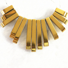 Charming gold-color hematite pendant hot sell diy fashion necklace 10-29mm long Rectangle loose beads 15 inches B203