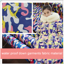Sold By Meter,Camo Print Down-Proof Material For Trench Coat Water Proof Down Jacket Fabric Camouflage
