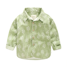 Infant Boys Shirts Long-sleeve Cotton Single-breasted Cardigan Kids Blouse Shirts Autumn Printed Children Camisa Infantil Menino