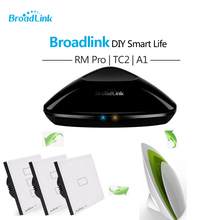 Broadlink TC2 Smart Switch Cover Plate + RM3 Pro RM Mini 3 Black Bean + A1 Sensor E-air Air Quality Detector Smart Home Automat(China)