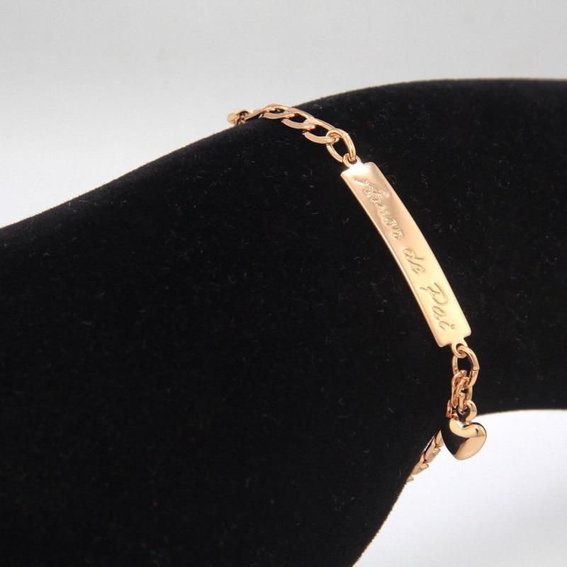 BR18-39_07a Amor de Pai kids jewelry baby bracelet gold bebe pulsera armband